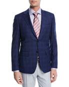 Super 130s Plaid Wool Blazer