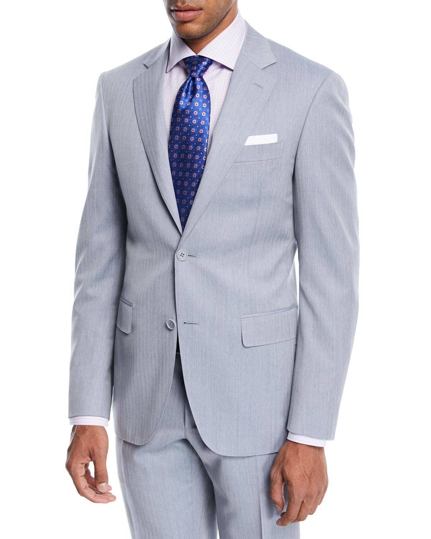 Wool Herringbone Two-Piece Suit