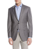 Canali Super 130s Wool Check Two-Button Sport Coat