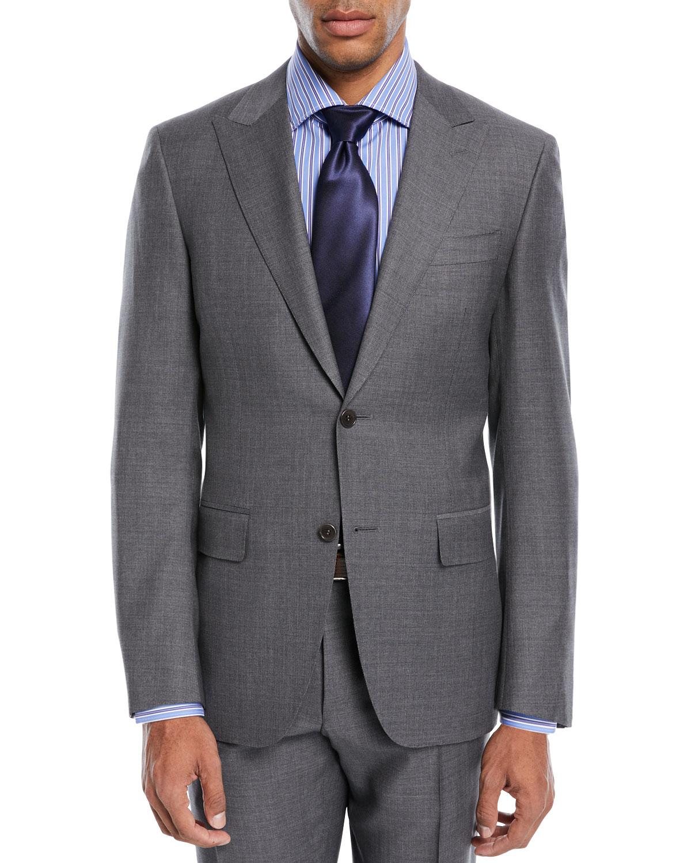 Geometric Wool Two-Piece Suit