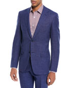 Bead Striped Wool-Blend Two-Piece Suit