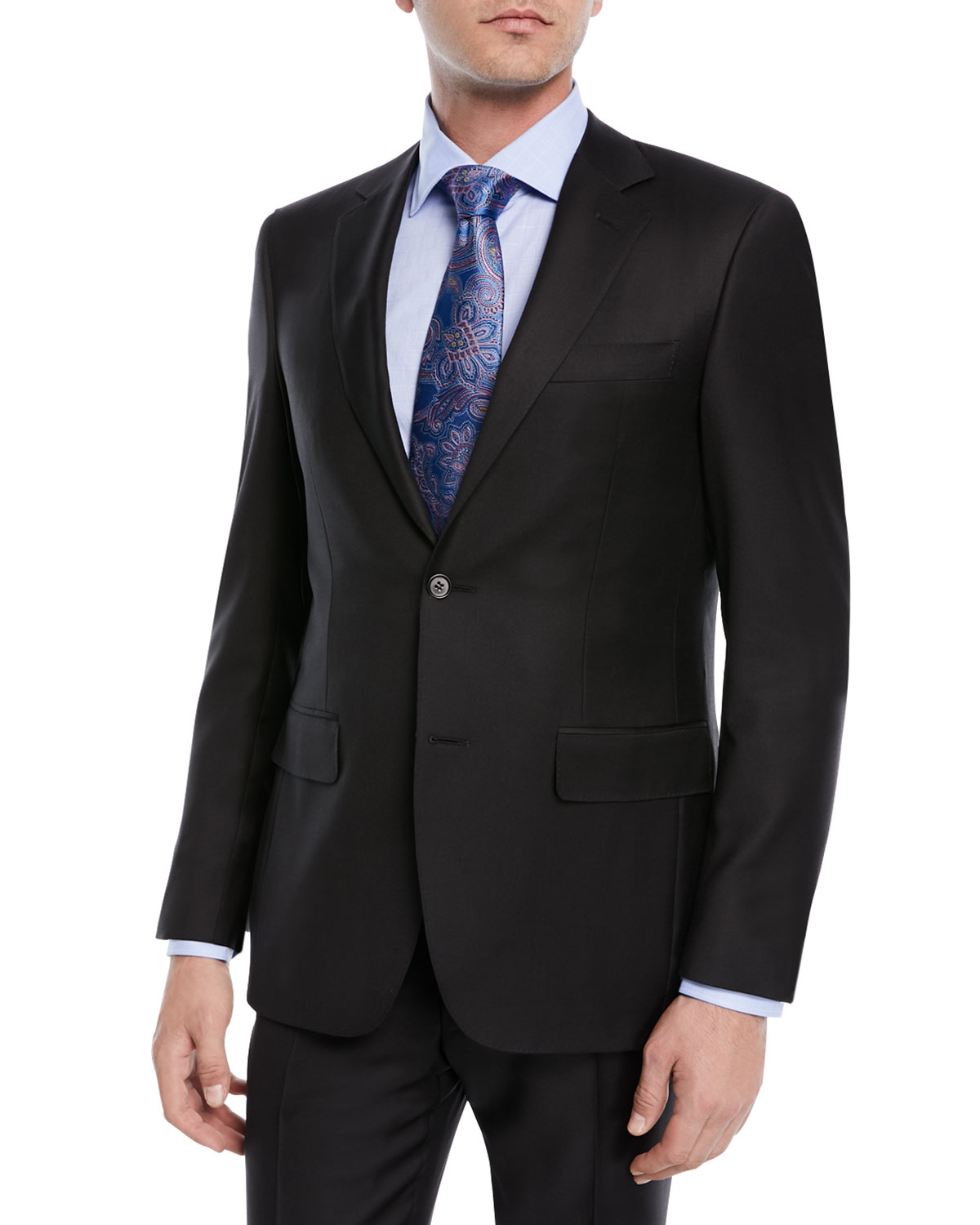Super 130s Wool Twill Two-Piece Suit