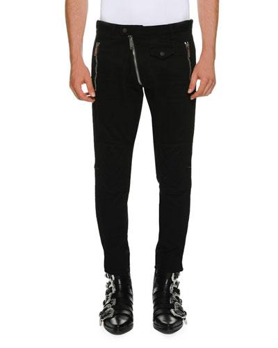 Biker-Style Denim Pants