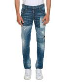 Washed Skater Jeans