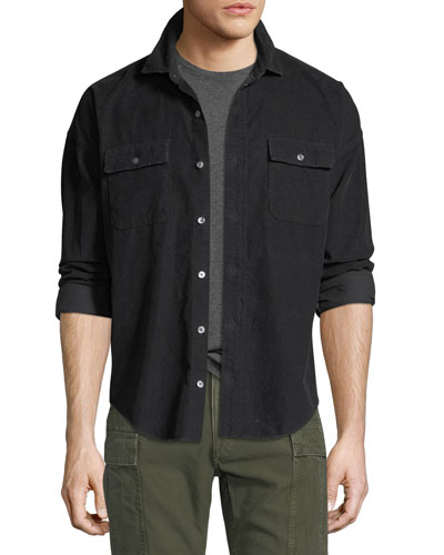 Corduroy Button-Front Shirt