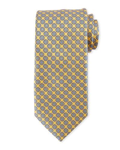 Box Flower Silk Tie
