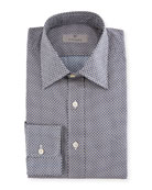 Basketweave Cotton Dress Shirt
