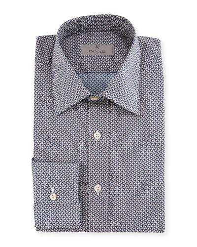 Basketweave Cotton Dress Shirt