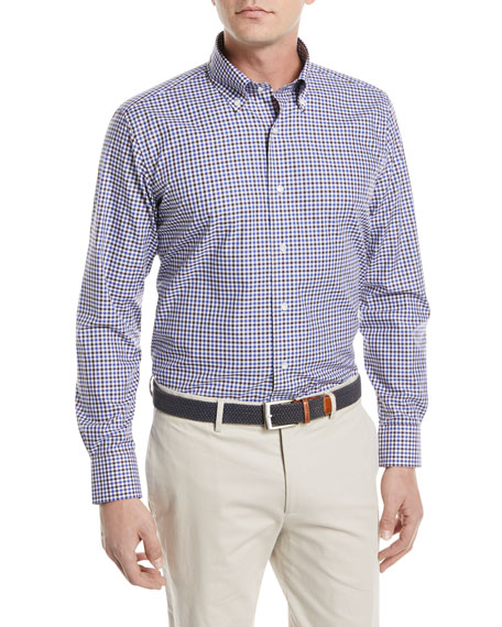 Peter Millar Gingham Cotton Sport Shirt