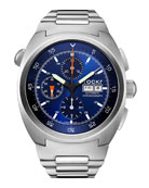 Air Defender Chronograph Stainless Steel Watch, Blue