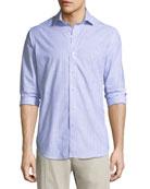 Summer Chambray Cotton Sport Shirt