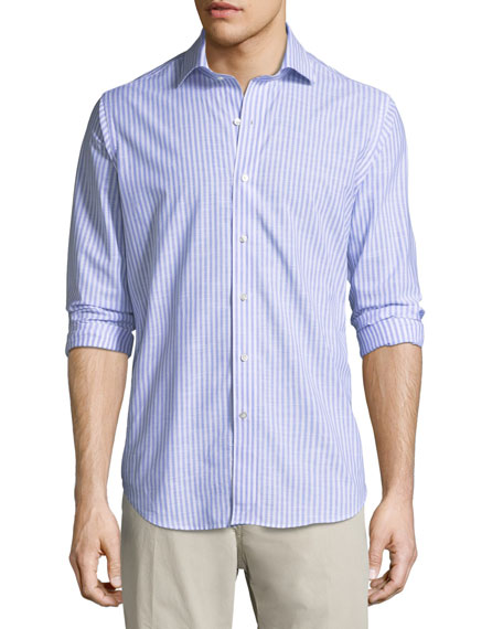 Peter Millar Summer Chambray Cotton Sport Shirt