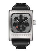 Radial C47W Leather Watch, Black