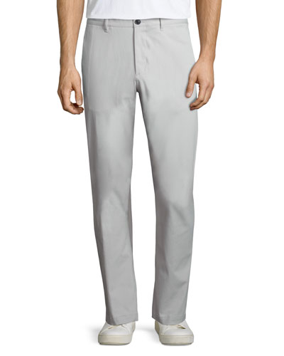 Zaine Witten Slim-Straight Pants, Ivory