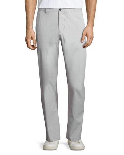 Zaine Witten Slim-Straight Pants, Ivory