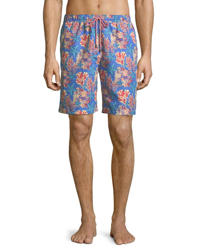 Stars and Coral Swim Trunks
