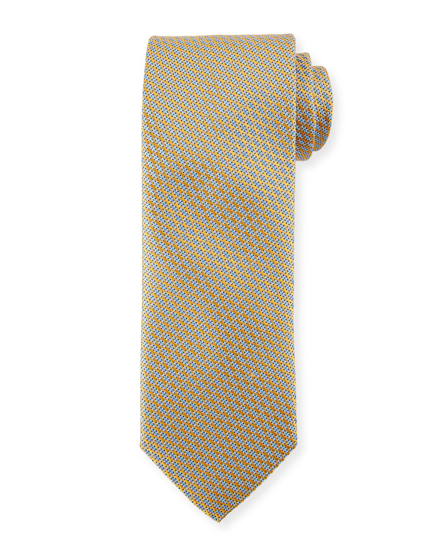 Lattice Silk Tie, Yellow