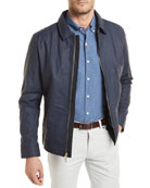 Maritime Matte Napa Leather Jacket