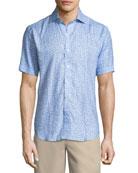 Life Aquatic Short-Sleeve Linen Sport Shirt