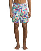 Skull Ice Cream Swim Trunks