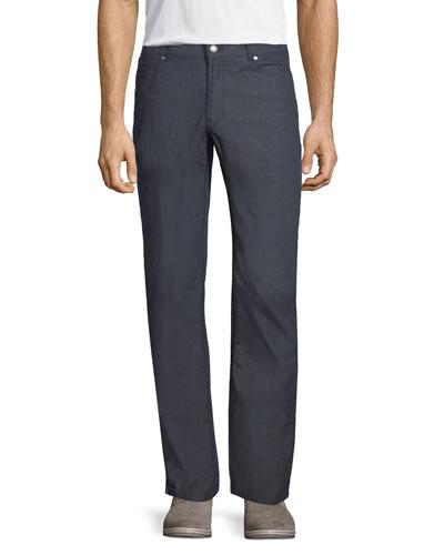 Summertime Straight-Leg Denim Pants