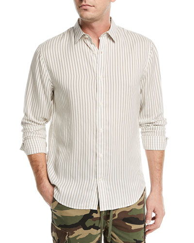 Vintage Striped Long-Sleeve Shirt