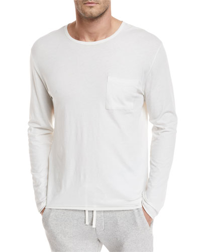 Pocket-Front Long-Sleeve T-Shirt