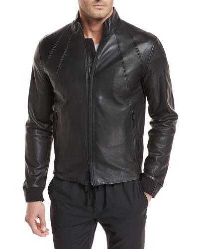Lamb Leather Bomber Jacket