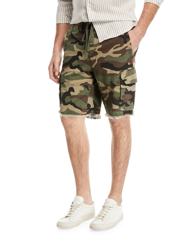Camouflage-Print Cargo Shorts