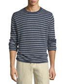 Striped Linen Crewneck Sweater