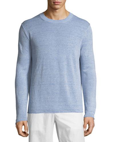 Linen Crewneck Sweater
