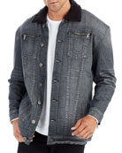 Turner Sherpa-Trim Denim Jacke1