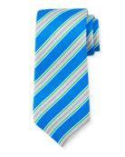 Framed Striped Silk Tie