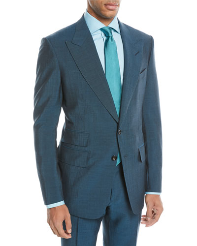 Textured Wool-Blend Two-Piece Suit