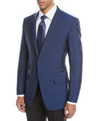 O'Connor Textured Wool-Blend Two-Button Jacket