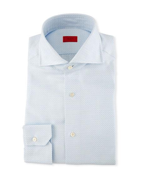 Isaia Textured Jacquard Dress Shirt