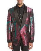 Oil-Pattern Silk Dinner Jacket