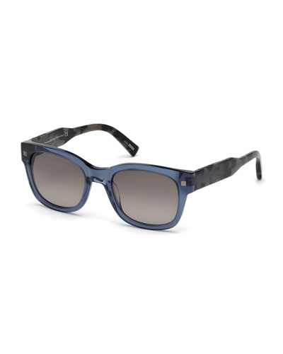 Havana-Arms Acetate Sunglasses