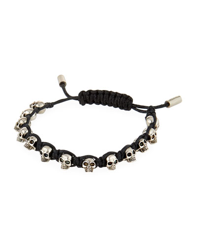 Men's Skull Bead Friendship Bracelet