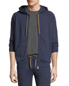 Zip-Front Hooded Sweater