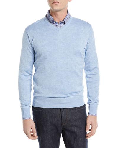 Wool-Silk V-Neck Sweater