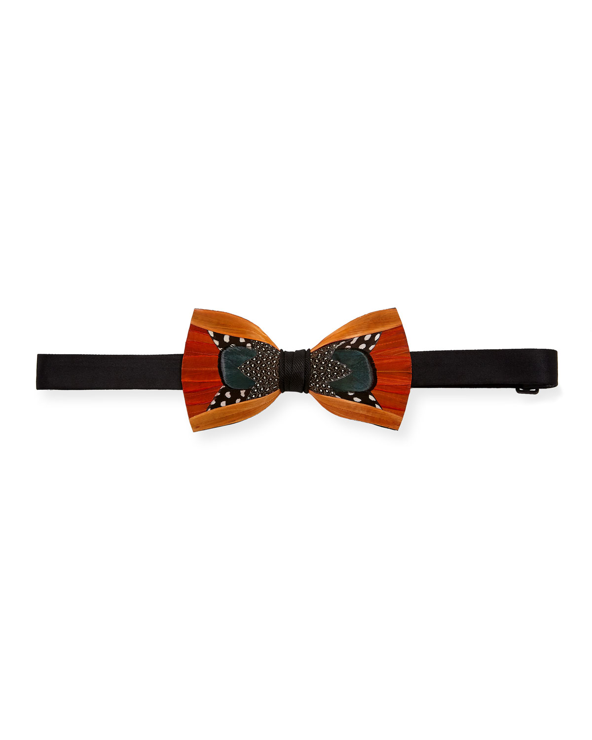 BRACKISH BOWTIES TRIFECTA FEATHER FORMAL BOW TIE