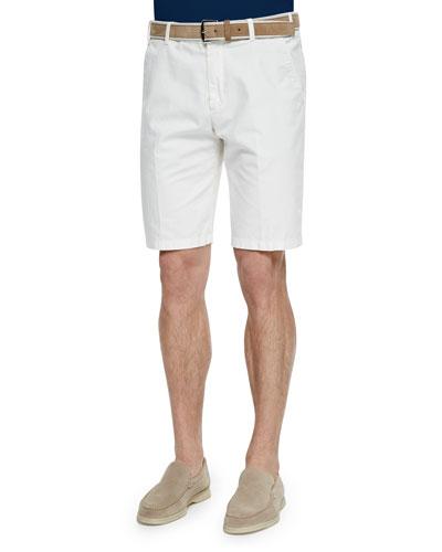 Flat-Front Bermuda Shorts