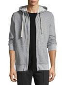 Heathered-Knit Zip-Front Sweatshirt