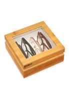 Light Wood Mini Eyewear Organizer Case