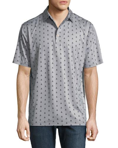 Marauder Bones-Print Polo Shirt