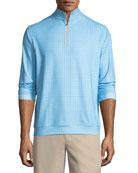 Perth Glen Plaid Quarter-Zip Sweater