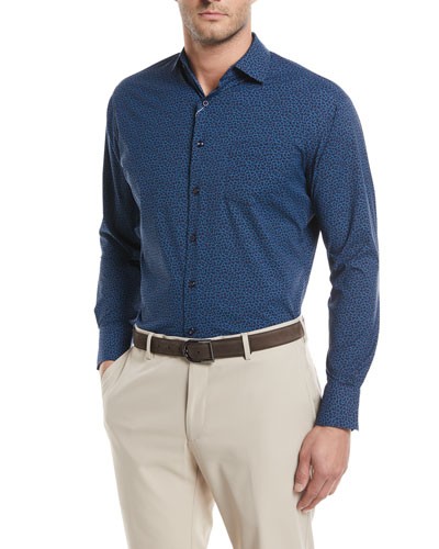 Townson Performance Mini-Camo Print Sport Shirt