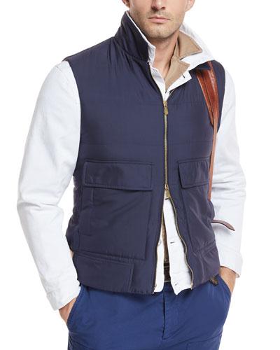 Silk Zip-Front Vest