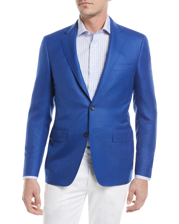 Super 130s Wool Sport Coat, High Blue